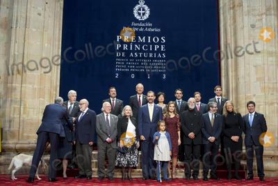 Antonio Munoz Molina Photo - 25-10-2013 Oviedo Princess Letizia and Prince Felipe pose with the 2013 Prince of Asturias Award laureates at the Reconquista Hotel of the northern Spanish city of Oviedo SpainSpanish golfer Jose Maria Olazabal US photographer Annie Leibovitz Spanish writer Antonio Munoz Molina Austrian director Michael Haneke Dutch-American sociologist Saskia Sassen British scientist Peter Higgs Belgian scientist Francois Englert and German scientist Rolf Heuer director general of CERN Credit PPEface to face- No Rights for Netherlands -