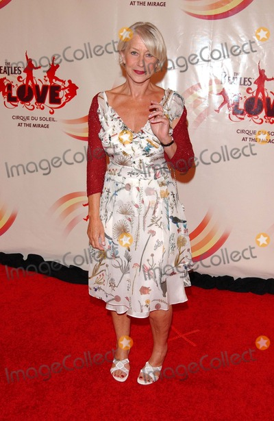 Beatles,Cirque du Soleil,Helen Mirren,The Beatles Photo - The Beatles LOVE By Cirque Du Soleil Gala Premiere