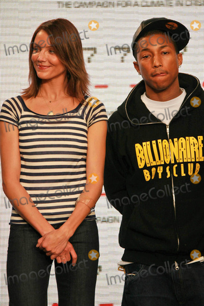 Cameron Diaz,Pharrell,Pharrell Williams Photo - Global Climate Crisis Campaign Concert Press Conference