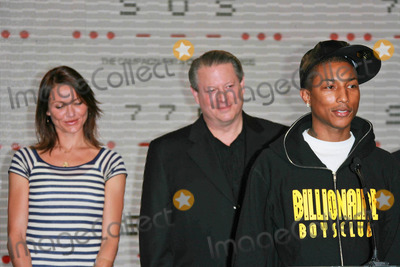 Cameron Diaz,Al Gore,Pharrell,Pharrell Williams Photo - Global Climate Crisis Campaign Concert Press Conference