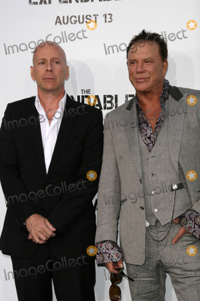 Bruce Willis,Mickey Rourke Photo - The Expendables Film Screening