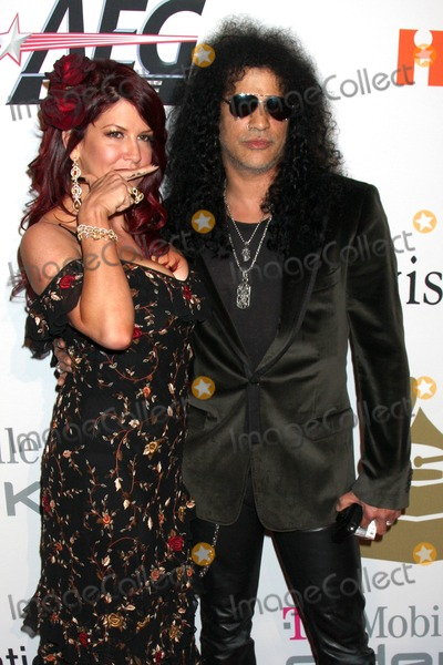 Clive Davis,Slash Photo - Pre-Grammy Party IHO Clive Davis