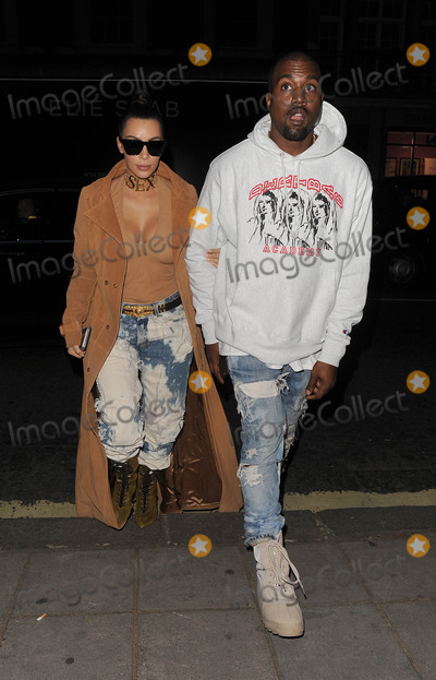 Photos From Kim Kardashian and Kanye West are seen in London, England