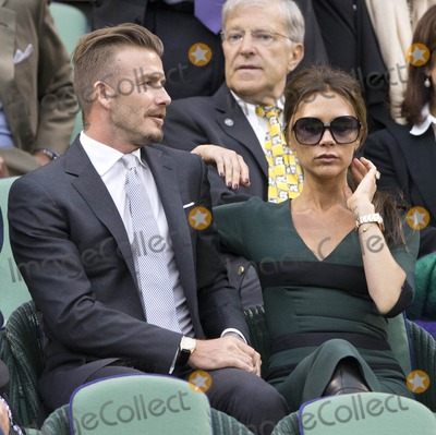 David Beckham,Victoria Beckham Photo - Celebs at Wimbledon