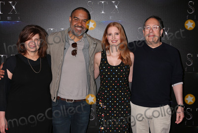 Photo - Photo by REWestcomstarmaxinccomSTAR MAXCopyright 2017ALL RIGHTS RESERVEDTelephoneFax (212) 995-119632817Amy Pascal Matt Jackson Jessica Chastain and Mark Gordon at the STX Films presentation of The State Of The Industry Past Present And Future during CinemaCon 2017 at Caesars Palace(Las Vegas Nevada)