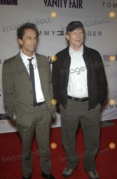 Brian Howard Photo - Producer BRIAN GRAZER (left)  director RON HOWARD at Reel Talk - a celebration of the iconic films of the 20th century The event at the Directors Guild of America was presented by Vanity Fair Tommy Hilfiger  The Film FoundationSept 18 2003 Paul Smith  Featureflash