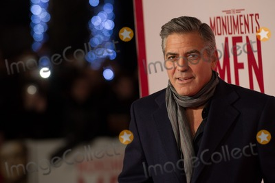 George Clooney Photos - George Clooney arriving for The Monuments Of Men Premiere at Odeon Leicester Square London 11022014 Picture by Dave Norton  Featureflash