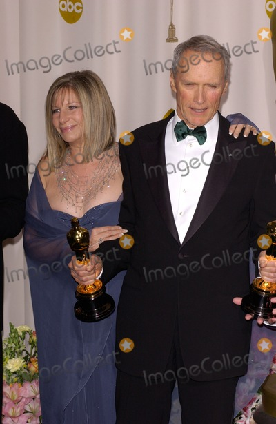 Barbra Streisand,Clint Eastwood Photo - Academy Awards
