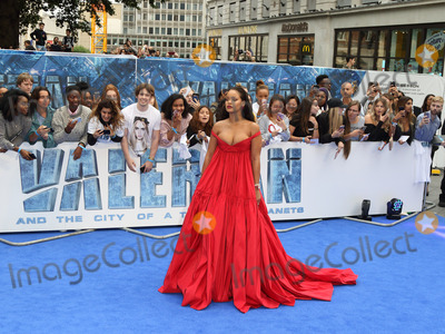 Photo - London UK Rihanna at Valerian And The City Of A Thousand Planets - European film premiere - at the Cineworld Empire Leicester Square London on July 24th 2017Ref LMK73-J558-250717Keith MayhewLandmark MediaWWWLMKMEDIACOM