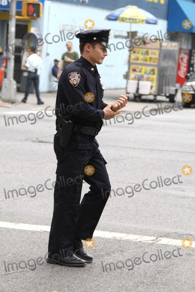 On set of blue bloods on 24st and 10 ave new york city 08 16 2
