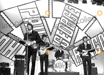 Beatles,The Beatles,John Lennon,George Harrison,Paul Mccartney,Ringo Starr Photos - The Beatles Appear on Blackpool Night Out Show 07-19-1964 Photo by Globe Photos Paul Mccartney George Harrison Ringo Starr John Lennon