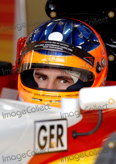 Adrian Sutil Photo - 20051021 ESTORIL PORTUGAL  Official Practice Session Atrocious weather conditions affected the first days running of the A1 Grand Prix of Nations at the Circuito Estoril near Lisbon While the mornings additional test sessions and the first official practice session were held on a wet to damp track the final session of the day was delayed by 25 minutes due to standing water A1 Team Australia chose not to participate in the second official practice session due to their concerns over the track conditions In picture Adrian Sutil (Germany) PHOTO Alvaro IsidoroCityfilesGlobe Photos Inc  2005K45626