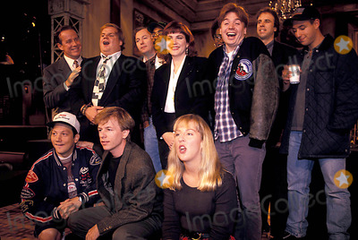 Adam Sadler Photo - Saturday Night Live 09-21-1993 Photo Mitchell Levy-Globe Photos Inc 1993 Rob Schneider Chris Farley Adam Sadler Mike Meyers David Spade Charles Barkley
