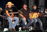Rhett Akins Photo - August 16 2011 - Athens GA - (l-r) Jason Aldean Colt Ford and Rhett Akins Country artist Colt Ford rounded up his songwriter and artist friends to hold a benefit for the family of Elmer Buddy Christian an Athens Police Officer who died in the line of duty  On hand were Jason Aldean Edwin McCain Rhett Akins Dallas Davidson James Otto Rachel Farley Corey Smith Brantley Gilbert and Mike Dekel The performance was held for a packed house at the reconstructed and recently reopened Georgia Theater Photo credit Dan HarrAdMedia