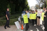Casey Kasem Photo - Kerri Kasem and the policeat a protest involving Casey Kasems children brother and friends who want to see him but have been denied any contact  Private Location Holmby Hills CA 10-01-13