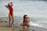 Phoebe Price Photo - Phoebe Price Ana Bragacelebrate Valentines Day early together at the beach Malibu CA 02-09-16