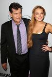 Charlie Sheen Photo - Charlie Sheen Lindsay Lohanat the Scary Movie V Premiere Cinerama Dome Hollywood CA 04-11-13