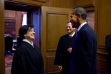 John Roberts Photo - United States President Barack Obama talks with Associate Justice Elena Kagan and Chief Justice of the US John Roberts after Kagans  Investiture Ceremony at the US Supreme Court Friday October 1 2010 MANDATORY CREDIT Pete SouzaWhite HouseCNP-PHOTOlinknet