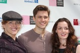 Alice Ripley Photo - NYC  091309Alice Ripley Aaron Tveit and Jennifer Damiano (Next to Normal) at Broadway on Broadway 2009 in Times SquareDigital Photo by Adam Nemser-PHOTOlinknet