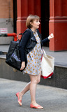 Lena Dunham Photo - April 14 2014 New York CityActress Lena Dunham arrived at Taylor Swifts apartment in Tribeca on April 14 2014 in New York City