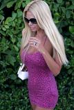 Playboy Models Photo - Former Playboy model Shauna Sand on South Beach on July 14 2011 in Miami FL