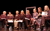 Anna Carteret Photo - London Left to right Caroline John Stella Maris Paula Wilcox Vanessa Redgrave Susannah Wise Hattie Morahan Zoe Waites and director Anna Carteret pictured at a rehearsed reading press call for Necessary Targets at The Arts Theatre Great Newport St London10th October 2003