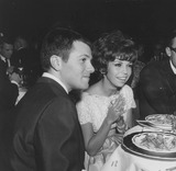 Nancy Sinatra Photo - Nancy Sinatra with Tommy Sands at carols nitesupplied by Globe Photos Inc