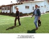 Ronald Reagan Photo -  Ronald  Nancy Reagan at Thier Ranch House Ron MesarosGlobe Photos Inc