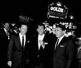 Dean Martin Photo - Frank Sinatra with Dean Martin and Peter Lawford at oceans Eleven Premiere Photo by Globe Photos Inc