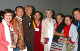 Sharon Stone Photo - I8549CHWA PRIVATE AUDIENCE WITH HIS HOLINESS TENZIN GYATSO THE 14TH DALAI LAMA OF TIBET SPONSORED BY THE OFFICE OF TIBET THE LOS ANGELES FRIENDS OF TIBET AND THE DALAI LAMA FOUNDATION   PASADENA CA04152004PHOTO BY CLINTON H WALLACEIPOLGLOBE PHOTOS INC 2004SHARON STONE AND TIBETAN FAMILIES
