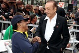 Art Laboe Photo - Local Radio Personality Shotgun Tom Kelly Honored with Star on the Hollywood Walk of Fame Hollywood Blvd Hollywood CA 04302013 Johnny Mathis and Art Laboe Photo Clinton H Wallace-photomundo-Globe Photos Inc