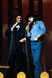 Waylon Jennings Photo - Johnny Cash with Waylon Jennings Supplied by Globe Photos Inc