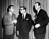 Rock Hudson Photo - James Garner Producer Ross Hunter and Rock Hudson at the Press Luncheon at Which Hunters New Seven Year Universal Contract Was Announced 1965 1960s SmpGlobe Photos Inc