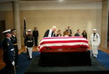 President Ronald Reagan Photo - Nancy Reagan with Casket - Ceremony and Repose at Ronald Reagan Presidential Library in Simi Valley For Former President Ronald Reagan - 06072004 - Photo by PoolGlobe Photos Inc2004