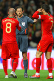 Frank De Bleeckere Photo - -28-2009 Porto Portugal - Portugal Vs Sweden World Cup 2010 Qualifying Match in Picture Frank DE Bleeckere with Raul Meireles and Cristiano Ronaldo Photo by Ricardo Estudante-cityfiles-Globe Photos Inc