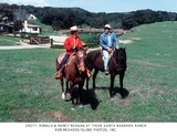 Ronald Reagan Photo -  Ronald  Nancy Reagan at Their Santa Barbara Ranch Ron MesarosGlobe Photos Inc