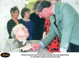 Prince Photo - 0999 the Prince of Wales Chats to Retired Farmer William Robertson 84 at Seaforth Housescotland
