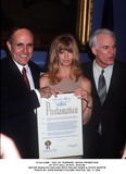 Goldie Photo - 033199 Out of Towners Movie Promotion at City Hall in NYC Mayor Rudolph Giulitani with Goldie Hawn  Steve Martin Photo by John BarrettGlobe Photos Inc