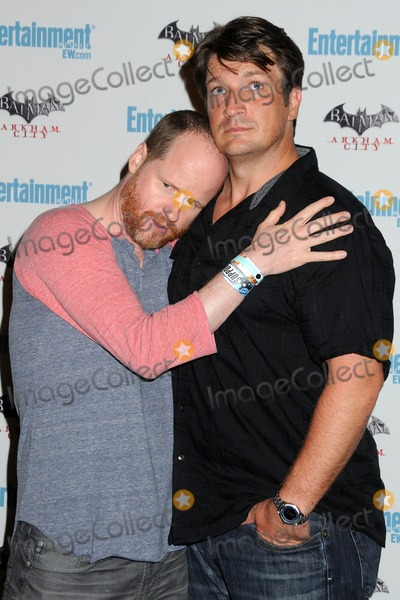 Photo - 23 July 2011 - San Diego California - Joss Whedon and Nathan Fillion 5th Annual Entertainment Weekly Comic-Con Party held at The Hard Rock Cafe Photo Credit Byron PurvisAdMedia