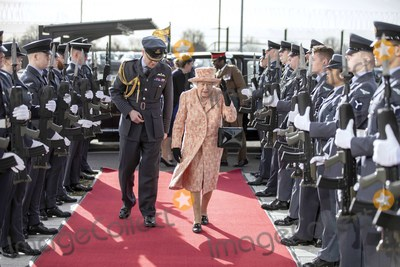 Photo - Queen Elizabeth II Visits RAF Marham to Inspect the New Integrated Training Centre