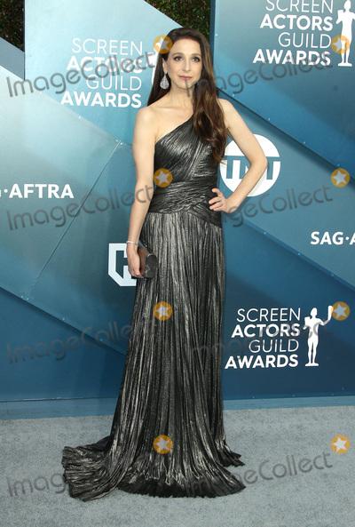 Photo - 19 January 2020 - Los Angeles California - Marin Hinkle 26th Annual Screen Actors Guild Awards held at The Shrine Auditorium Photo Credit AdMedia