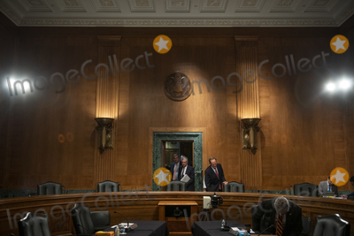 Photo - Jerome H Powell Chairman Board of Governors of the Federal Reserve System appears before a Senate Committee on Banking Housing and Urban Affairs hearing