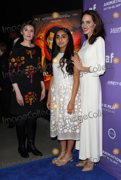 Photo - 20 October 2017 - Hollywood California - Nora Twomey Saara Chaudry and Angelina Jolie The Breadwinner US Premiere held at the TCL Chinese 6 Theatre in Hollywood Photo Credit AdMedia