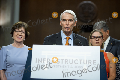 Photo - United States Senator Rob Portman (Republican of Ohio) makes remarks after the vote on the motion to invoke cloture to proceed to the consideration of HR 3684 the INVEST in America Act on Capitol Hill in Washington DC on Wednesday July 28 2021 The vote to begin discussion of the bipartisan infrastructure bill agreed to by the White House was 67 to 32 If passed the bill would invest close to 1 trillion in roads bridges ports and other infrastructure without a major tax increaseCredit Rod Lamkey  CNPAdMedia