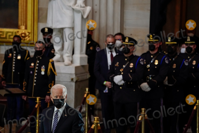 Photo - United States President Joseph R Biden Jr attends a lying in honor ceremony for US Capitol Police officer William Billy Evans in the Rotunda of the US Capitol in Washington DC Washington on Tuesday April 13 2021 Credit Amr Alfiky  Pool via CNPAdMedia