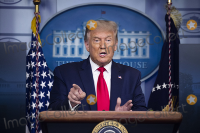 Photos From President Donald Trump Holds a News Briefing