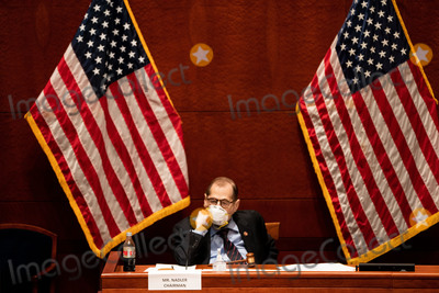 Photo - United States Representative Jerrold Nadler (Democrat of New York) Chairman US House Judiciary Committee listens during a US House Judiciary committee hearing on Oversight of the Department of Justice Political Interference and Threats to Prosecutorial Independence on Capitol Hill in Washington DC on June 24th 2020Credit Anna Moneymaker  Pool via CNPAdMedia