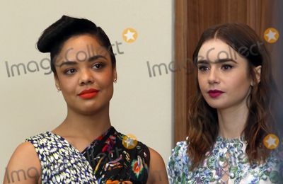 Photo - 21 November 2017 -  West Hollywood California - Tessa Thompson Lily Collins Film Independent 2018 Spirit Awards Press Conference held at The Jeremy Hotel Photo Credit Faye SadouAdMedia