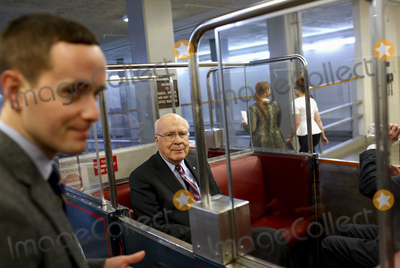 The Subways Photo - Senior US Senator Patrick Leahy a Democrat from Vermont rides the senate during a break from the impeachment trial before riding the subway at the US Capitol in Washington DCon Thursday January 30 2020 Credit Joshua Lott  CNPAdMedia