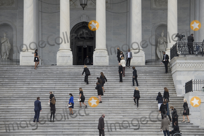 Photo - Supreme Court Justice Ruth Bader Ginsburg Departs from the US Capitol